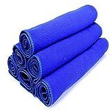 Chezaa Microfiber Cleaning Cloth,Blue Absorbent Wash Cloth Car Auto Care Microfiber Cleaning Towels 1PC/5PCs/6Pcs/7Pcs (Blue,1pc)