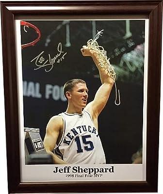 Jeff Sheppard signed Kentucky Wildcats 11x14 Photo Custom Framed #15 (1998 Final Four MVP)- JSA/BAS Guaranteed To Pass - PSA/DNA Certified