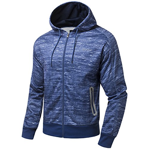 AIRAVATA Men's Casual Slim Fit Long Sleeve Full Zip Hoodie Sweatshirts