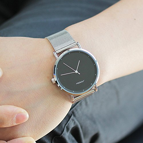 Amazon.com: Relojes de Hombre de Moda 2018 Stainless Steel Mesh Band Waterproof Business Dress Watch Men RE0077: Watches