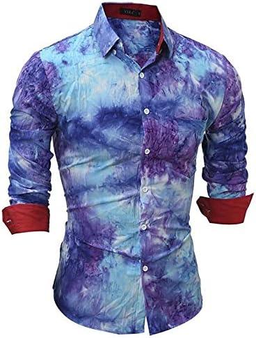 IYFBXl Camisa Punk y gótica para Hombre - Color Block/Plaid, Blue, M: Amazon.es: Deportes y aire libre
