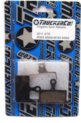 Organic Semi-Metallic brake pads Shimano 2011-2015 XTR, XT, SLX, deore, BR-M9020 trail, (Pad Spring Race Disc)