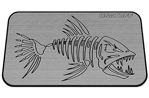 USATuff Deck ORCA Cooler Pad - Fits ORCA 40QT - Marine-Grade/Anti-Slip/Dual-Layer in Gray/Black - BoneFish - (Cooler Not (Hydro Turf Turf Pad)