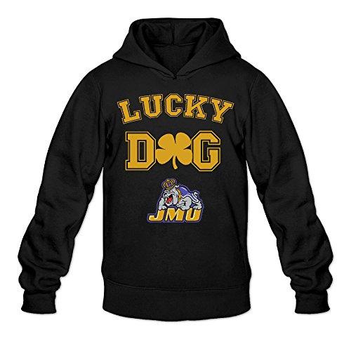 CYANY JMU James Madison University Dukes Lucky Dog Women's Latest Hoodies Sweater LBlack