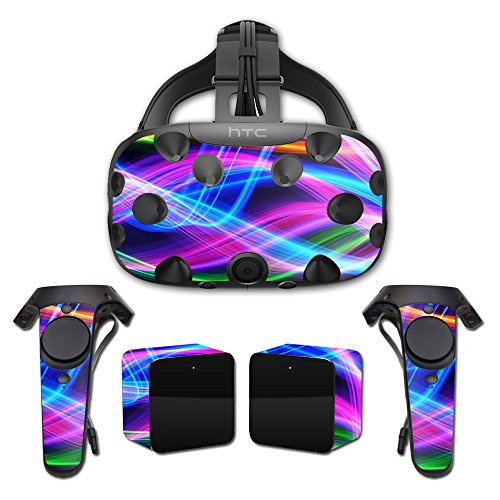 MightySkins Skin For HTC Vive Full Coverage - Light Waves | Protective, Durable, and Unique Vinyl Decal wrap cover | Easy To Apply, Remove, and Change Styles | Made in the USA by MightySkins