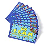 Go T.E.A.M. Cards & TEAM Lapel Pins - Set of 10 Office Teambuilding Pins