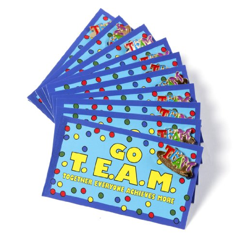 Go T.E.A.M. cards and TEAM lapel pins (set of 10)