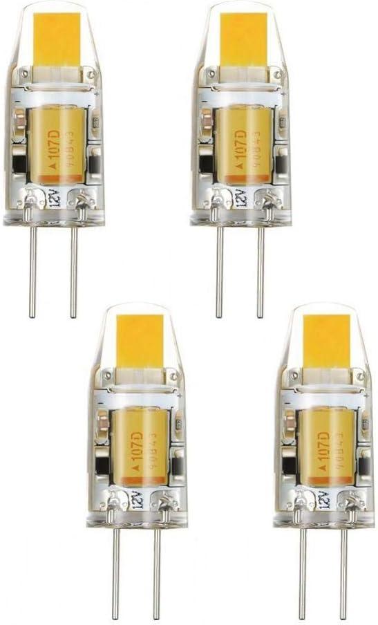 G4 - Bombilla LED 2 W, AC/DC 12 V, 2 W, 120 – 140 lm, ángulo de haz de 360 grados, bombilla de cristal de proyector, sustitución de bombillas y armarios de
