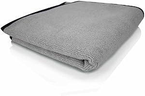 Chemical Guys MIC_1024_1 Ultra-Plush Micro-Cotton Microfiber Towel, Gray (17 in. x 24 in.)