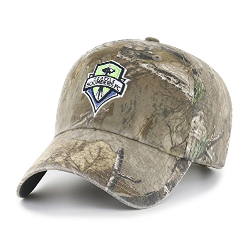 OTS MLS  Seattle Sounders Fc Realtree  Challenger Adjustable Hat, Realtree Camo, One -