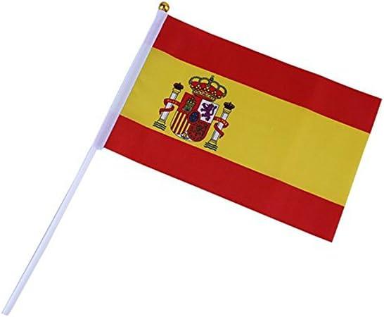 JUYUAN-EU Copa del mundo 2018 Bandera españa exterior intermational banderas banderines (20pcs, España): Amazon.es: Jardín