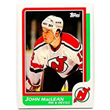 1986/87 Topps John MacLean Rookie Card #37 New Jersey Devils