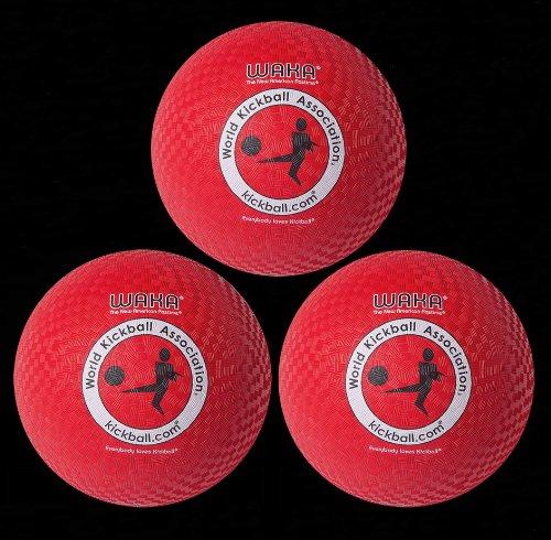 Mikasa WAKA Official Adult Rubber Kickball - Set of Three by Mikasa Sports