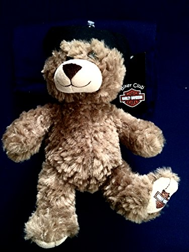 Kids Preferred Harley-Davidson Biker Club Plush Honey Brown Teddy Bear with Bandana