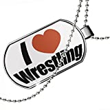Dogtag I Love Wrestling Dog tags necklace - Neonblond