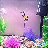 #7: YOYORI Treasure Hunter Diver Action Figure Fish Tank Ornament Aquarium Decor Landscape (Black)