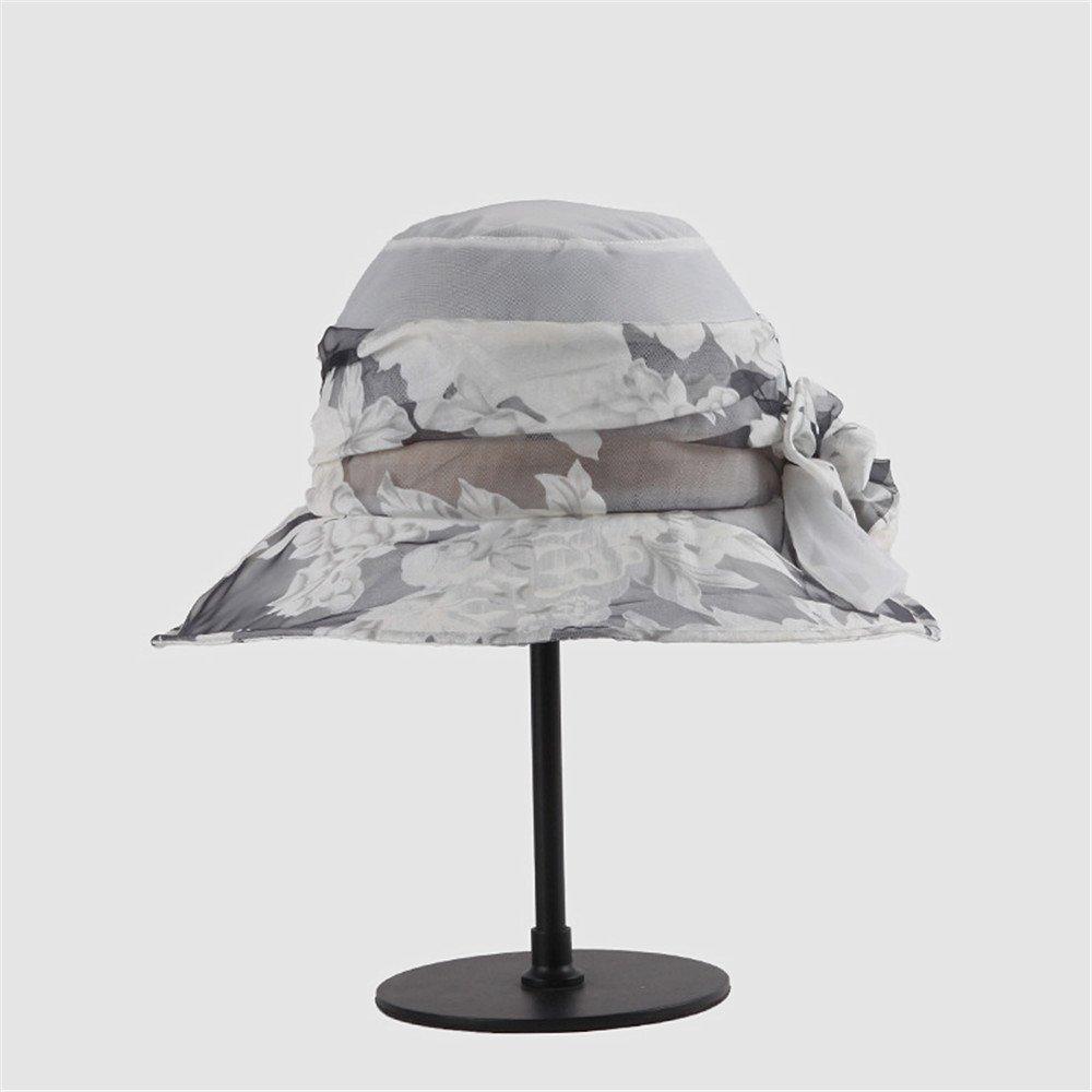 Shuo lan hu wai Der Hut der Frauen Mulberry Silk Water Ink Style Sommer der Hut der Frauen kann gefalteter Silk Hut Sein