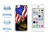 BleuReign(TM) Romania And USA Mixed Flag Clear Plastic Phone Case Back Cover Apple iPhone 5c