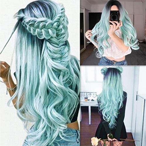 Eoeth Big Sale!Summer Colorful Wig High Temperature Silk Rose Mesh Breathable and Comfortable High Temperature Fiber Wig Hair Cosplay Hair Wig (Shipped by US) Free Post]()