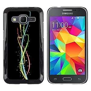 Be Good Phone Accessory // Dura Cáscara cubierta Protectora Caso Carcasa Funda de Protección para Samsung Galaxy Core Prime SM-G360 // Color Neon Spires