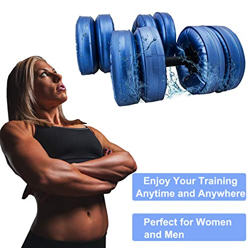 AQOTER-Water-Filled-Dumbbells-Travel-Dumbbells-Adjustable-Water-Fillable-Dumbbells-Set-for-Men-and-Women-Eco-Friendly-PPC-Dumbbells-for-Bodybuilding-Weight-Lifting-Training-Professional-Workout