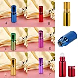 Jinjin 6 Pack-5ml Perfume Bottle,Portable Mini Refillable Empty Perfume Atomizer Spray Bottle Easy to Fill Scent Aftershave Pump Case for Travel Outgoing Purse Multicolor (B)