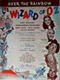 Over The Rainbow (SHEET MUSIC) The Wizard of Oz cast photos on cover