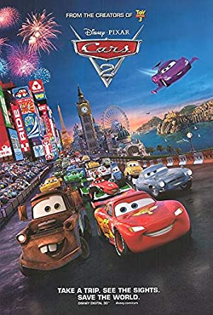 Cars 2 Authentic Original 27x40 Rolled Movie Poster At Amazon S
