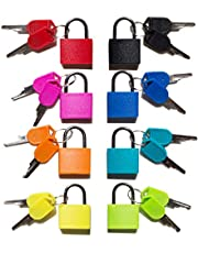 Padlock, (8 Pack) Small Padlock with Key for The Luggage Lock, Backpack,Gym Locker Lock,Suitcase Lock,Classroom Matching Game and More, 8 colors