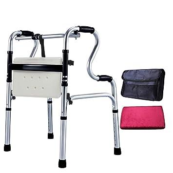 Everyday canne III- La Silla de baño para discapacitados, con Ruedas y muletas de Cuatro pies, Rueda de cinturón de aleación de Aluminio para sillas de ...