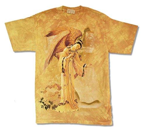 (Mountain Golden Angel Mustard Mens Tie Dye T Shirt (XL))