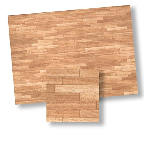 World Model Miniatures Dollhouse Miniature Wood Look Parquet Flooring Paper