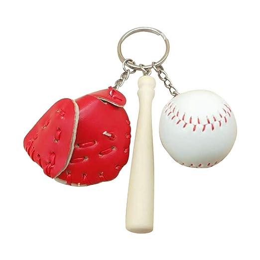 Wicemoon - Llavero de béisbol con Colgante para Bolso de ...