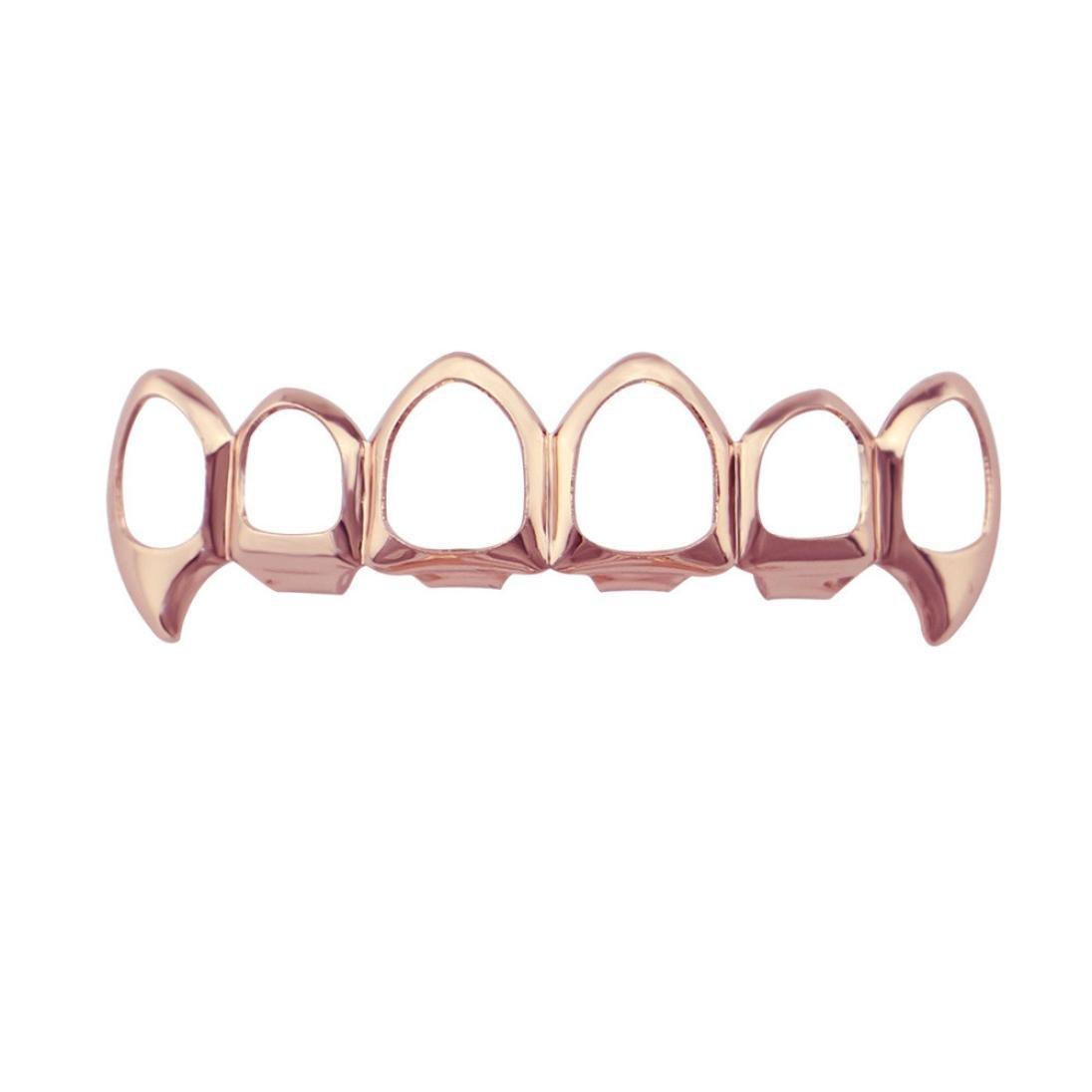 Inkach Denture Teeth, Hip Hop Cosmetic Upper Teeth Veneer Dental Grills Teeth Denture Model (G)