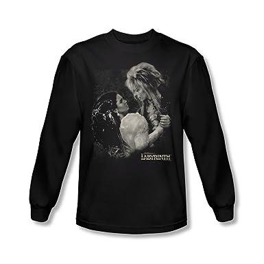 Labyrinth - Männer Dream Dance Langarm-Shirt In Schwarz, Small, Black
