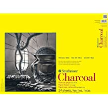 Strathmore ST330-118 18 in. x 24 in. 300 Series Glue Bound with Flip Over Cover Charcoal Pad - 24 Sheets