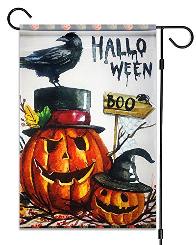 51groups Halloween Garden Flag 12'X18 | Happy Halloween Designer Flag | Trick or Treat Flag I Fall Decorative Flag I Weatherproof, Small Banner Size (Halloween Boo) -