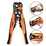HORUSDY Wire Stripping Tool, Self-adjusting 8'' Automatic Wire Strippers/Cutting Pliers Tool for Wire Stripping, Cutting, Crimping 10-24 AWG (0.2~6.0mm²) - Best Unique Tool Gift for Men