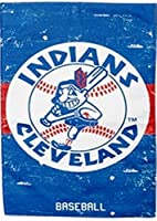Cleveland Indians EG VINTAGE Retro 2-sided GARDEN Flag Linen Banner Baseball