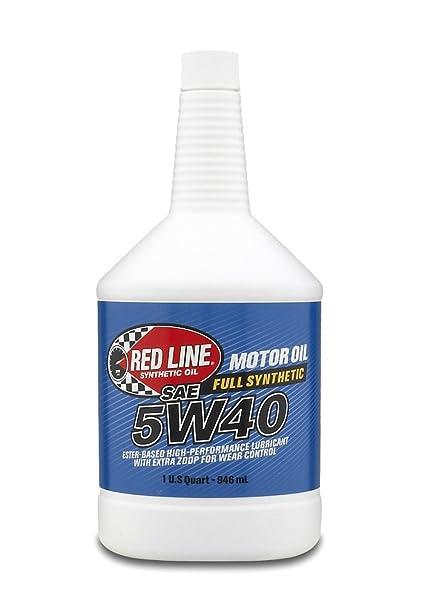 Red Line 15424 5W40 Motor Oil - 1 Quart, (Pack of 12)
