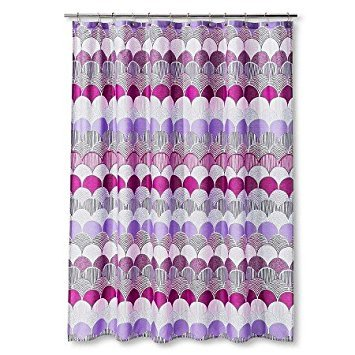 New Riley Shower Curtain Pink/Purple (72