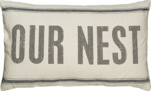 Reproduction Vintage Cotton Fabric (Primitives by Kathy Vintage Flour Sack Style Pillow, 15.5 x 24.5-Inch, Our Nest)