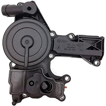 Engine Crankcase Vent Valve PCV Valve Oil Separator for Audi A3 A4 A5 A6 Q3 Q5 VW Volkswagen Beetle CC EOS GTI Jetta Passat Tiguan Replace # 06H103495A ...