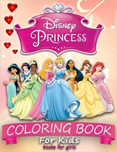 Disney Princess Coloring Book For Kids Coloring Books For Girls