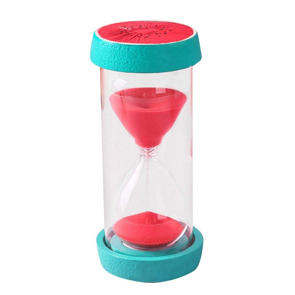 Merryoung 15/30/60mins Vibrant Fruits Hourglass Sand Clock Timer for Kitchen Cooking Kids Games Dining Study Teacher Autism Children Brush Teeth Countdown (60 Minutes, Watermelon)