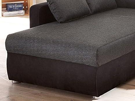 Sofá Sofá tifon 272 x 200 cm, Negro, función de Cama con ...