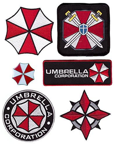 6pc Set - Pin and Security Service Umbrella Corporation Resident Evil Costume Halloween (Umbrella Security Service Costume)