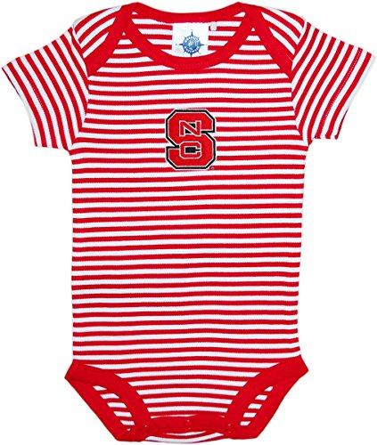 (North Carolina State University Wolfpack Striped Baby Bodysuit Red/White)