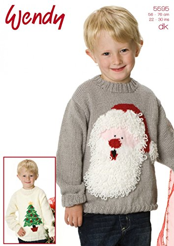 Wendy Childrens Christmas Sweaters Knitting Pattern 5595 Dk Amazon