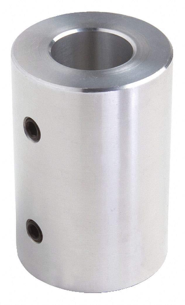 1 Piece Set Screw 1 Bore Dia Aluminum Rigid Shaft Coupling